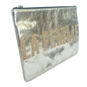 Express Bags - Express La Femme Metallic Clutch
